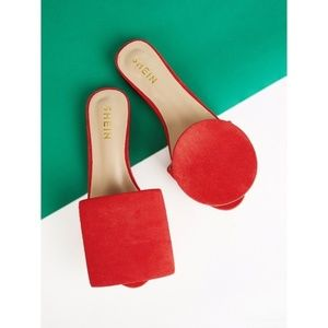 "Red Sandals - ""Rond Carre"" Style"